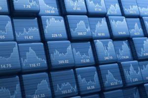 Wall of trading charts
