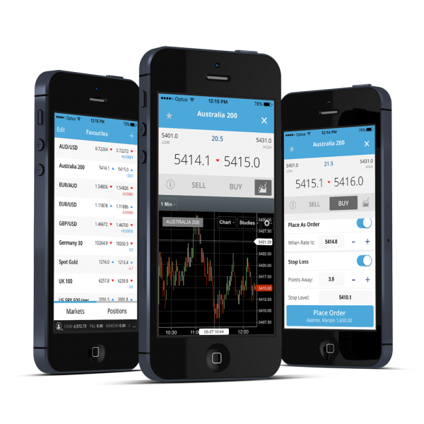 Trade Direct 365 app on a phone